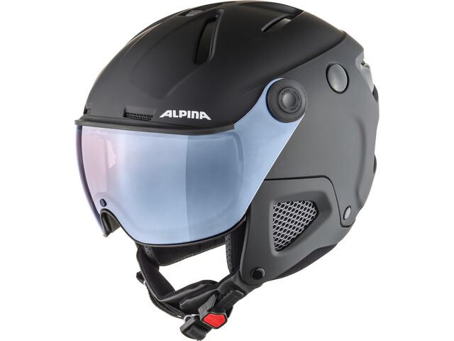 Alpina Attelas Visor QVM Kypärä, black matt silver